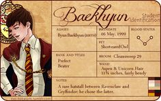 HOGWARTS EXO: BAEKHYUN - GRYFFINDOOR / PATRONUS (BASENJI DOG)