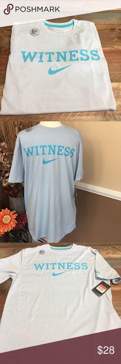 "🛍🎉🛍 NWT Nike Dri-Fit T Back in LAST 1 brand new NIKE ""WITNESS"" Tshirt .. Awesome Cool Shirt!! Nike Shirts Tees - Short Sleeve"