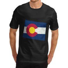 Men'S T Shirt Fashion Usa States And Flags Colorado 100% Organic Cotton T Shirt Hip Hop Novelty T Shirts Men'S Brand Clothing