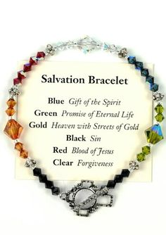 Shop cancer jewelry, including cancer bracelets, awareness pins and necklaces. Browse ribbon jewelry for various awareness types including breast cancer, lung cancer & ovarian cancer. Christian Jewelry, Christian Gifts, Christian Bracelets, Rosary Bracelet, Beaded Bracelets, Salvation Bracelet, Jewelry Crafts, Handmade Jewelry, Handmade Bracelets