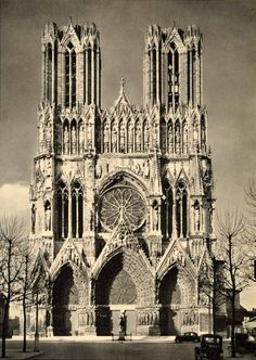 "firsttimeuser: ""Reims Cathedral, France, 1937 by Martin Hürlimann """