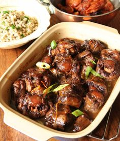 Image beef tail stew with side dishes Crop Resize - Stews - Oxtail Recipes South African Recipes, Asian Recipes, Oxtail Recipes, Chinese Vegetables, Vegetable Dishes, Food For Thought, Stew, Side Dishes, Meals