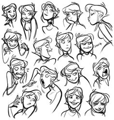 Pin by derek thielman on character design animation drawings Character Design Animation, Character Design References, Character Drawing, Character Sketches, Character Illustration, Comic Character, Facial Expressions Drawing, Cartoon Expression, Cartoon Faces Expressions