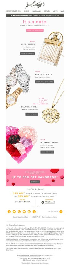 Lord and Taylor V-Day Gifts