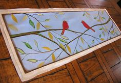 Painted table runnerUnique and one of a kind  Floral by SkyeArt, $82.00