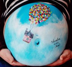 Bump Paintings on the Bellies of Pregnant Women