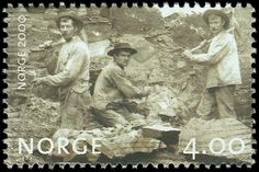 Norway, stamp of railway laborers