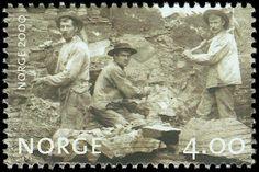 Norway, stamp of railway laborers