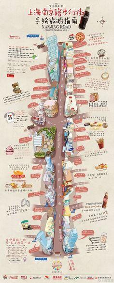 Shanghai Nanjing Road travel map