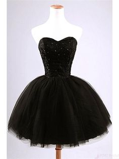 Sweetheart Short Black Prom Dress Homecoming Dresses Party Dresses #SIMIBridal #homecomingdresses