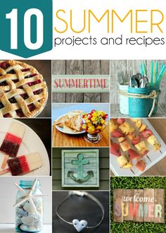 10 Awesome Summer Projects /// Complete Tutorial for DIY Weathered Summer Pallet Sign Triple Berry Pie, Silverware Caddy, Fruit Salsa, Painted Mason Jars, Beach Signs, Pallet Signs, Summer Fun, Summer Ideas, Summer 2014