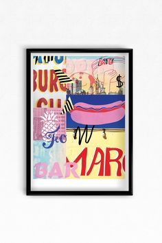 Coney Island digital print. Open Edition (signed on front) Printed on Lamberth 170gsm, open edition (29.7cm x 42 cm) Posted 1st class flat, cello w...