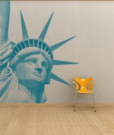 Halftone Statue of Liberty Vinyl Wall Decal by rEVOLV3rApparel