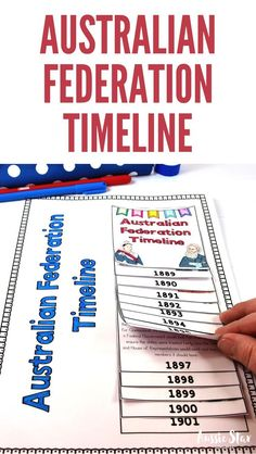 This Australian Federation Timeline Activity is a great hands-on lesson for your Grade 6 Australian History lessons. Your students will explore the significant events that led to Australia's Federation. and create a timeline flip book by sorting events into chronological order and completing the question sheet to demonstrate their understanding. This teaching resource has been designed to align with the Australian Curriculum for HASS. ACHASSK134 | ACHASSI125. #australianfederation #hass…