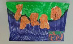 Laboratorio sui colori secondari. Reinterpretiamo la Danza di Matisse coi personaggi che ci piacciono di più!