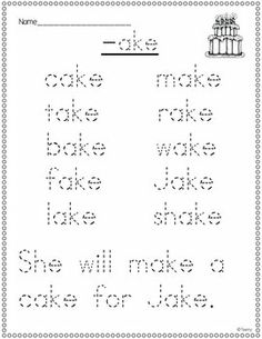 Pin It!  Word Family Edition {Long Vowels}