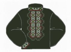 Льняная чёрная мужская вышиванка ВМЛ-006Ч