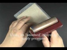Quick Tip: Easy Texture Embossing Folder Stamping