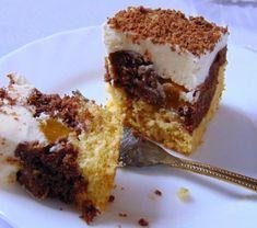 Cookit - przepis na Fale Dunaju z brzoskwiniami. French Toast, Pudding, Breakfast, Desserts, Tailgate Desserts, Dessert, Puddings, Deserts, Avocado Pudding