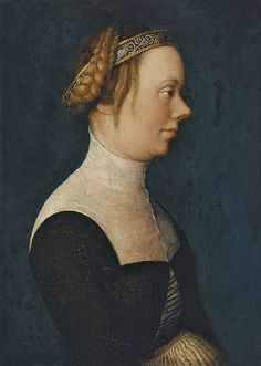 Hans Holbein , the Elder Portrait of a Woman ca. 1518-20 Oil on panel. 23.6 x 17 cm Museo Thyssen-Bornemisza, Madrid