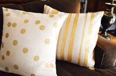 Gilded Pillows | 10 Quick And Cozy DIYs For Fall