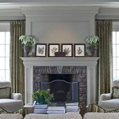 Traditional Home Painted Brick Fireplace Design, Pictures, Remodel, Decor and Ideas - page 4