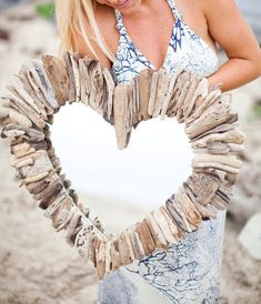 Awesome !!  Driftwood Heart Mirror by MaderaDelMar on Etsy, $215.00