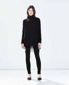 Image 1 of DETAILED KNIT TOP from Zara medium