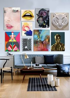 Love this art display.