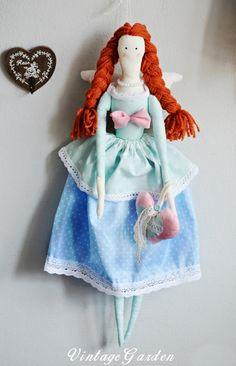 Duża lalka Tilda Anioł na zamówienie w Vintage Garden na DaWanda.com