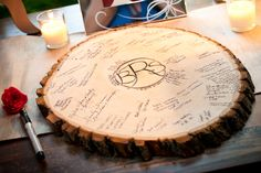 vintage wedding guess book table idea - Bing Images