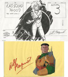 Exosquad Maggie Weston Storyboard Title Pg Art by Will Meugniot & JT Marsh Cel
