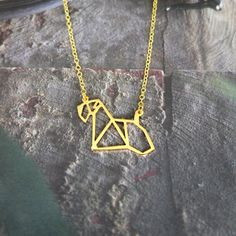 Origami Basset Hound Necklace, Dog Necklace Pet memorial gifts for dog lovers Dog Jewelry, Hand Jewelry, Animal Jewelry, Jewelry Gifts, Pet Memorial Gifts, Dog Memorial, Pet Loss Gifts, Pet Gifts, Pugs
