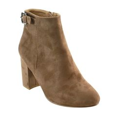 NATURE BREEZE FD92 Women's Buckle Strap Chunky Block Heel Ankle Bootie *** More info could be found at the image url.