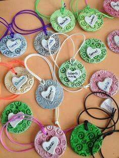 Fathers Day Crafts, Valentine Day Crafts, Valentines, Polymer Clay Crafts, Diy Clay, Diy And Crafts, Crafts For Kids, Arts And Crafts, Diy Presents