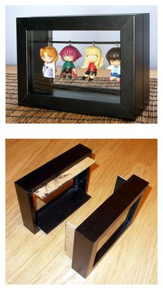 Freestanding RIBBA frames keychain display box - instructions #ikea_hacks