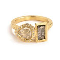 Todd Reed Double Diamond Ring | Greenwich Jewelers