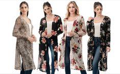 Summer Cardigan, Kimono Cardigan, Kimono Top, Long Sleeve Kimono, Black Mesh, Snake Print, Floral Prints, Solid Colors, Unique