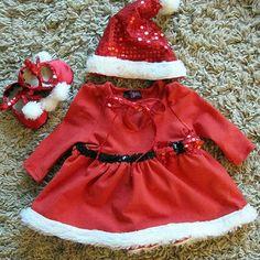 Baby Girl Christmas Outfit- Girls Christmas Dress- Christmas Dress