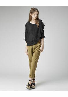 ISABEL MARANT ÉTOILE Hilary Cropped Pant, Safi Ruffled Top, Hayley Platform Sandal
