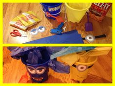 Minion Snack Buckets - A Southern Outdoor Cinema movie snack & food idea for outdoor movie events.