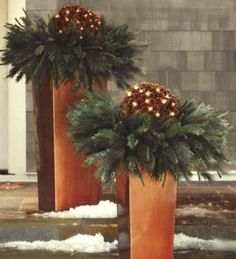 Christmas Urns, Christmas Planters, Christmas Arrangements, Outdoor Christmas Decorations, Winter Christmas, Christmas Home, Christmas Wreaths, Christmas Crafts, Holiday Decor