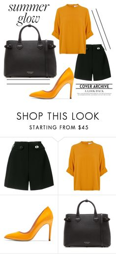 """""""Inspirations // Orange"""" by mia-rose96 ❤ liked on Polyvore featuring Proenza Schouler, Rupert Sanderson, Burberry and vintage"""