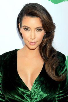 Kim Kardashian Wedding Hair Ideas - Wedding Hair Ideas - Losse waves pulled to the side - Harper's BAZAAR