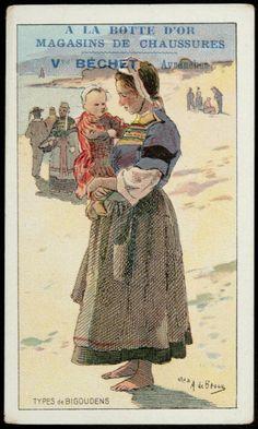 carte réclame - TYPES de BIGOUDENS | MuCEM - Musée des civilisations de l'Europe et de la Méditerranée