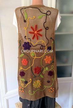 UZUN YELEK – Örgü Pınarı Crochet Saco, Freeform Crochet, Crochet Top, Knitted Coat, Crochet Jacket, Crochet Girls, Blouse Dress, Cardigans For Women, Dress Making