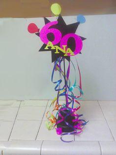 centerpiece for 60th birthday