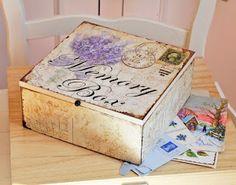 decoupaged memory box...