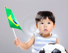 Baby Son Holding Flag Amd Soccer Ball - Download From Over 24 Million High Quality Stock Photos, Images, Vectors. Sign up for FREE today. Image: 40944351