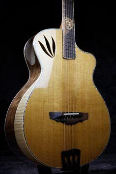"A ""Da Vinci"" model by Driftwood Guitars Guitar Building, Ukulele, Driftwood, Acoustic, Bass, Music Instruments, Model, Ideas, Guitars"